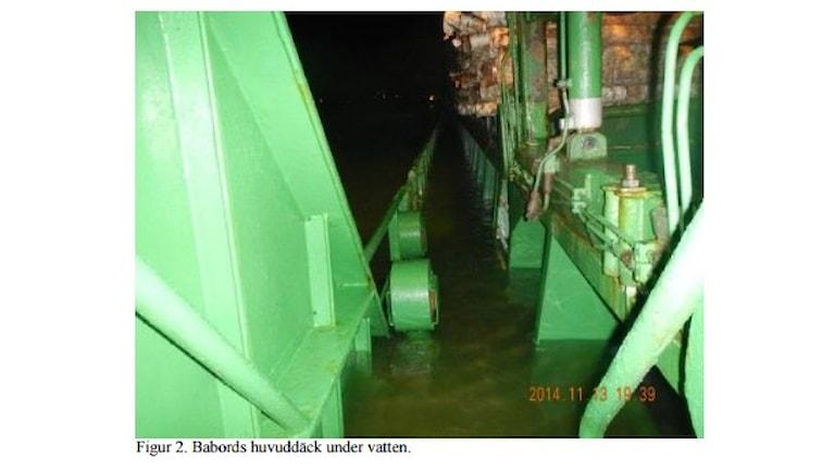 Bild ur haverikommisionens rapport om fartyget Nossan