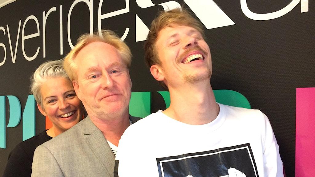 Therese McDonald, Peter Sundblad och Jimmie Schewenius. Foto: Susanna Wictorzon/Sveriges Radio.se