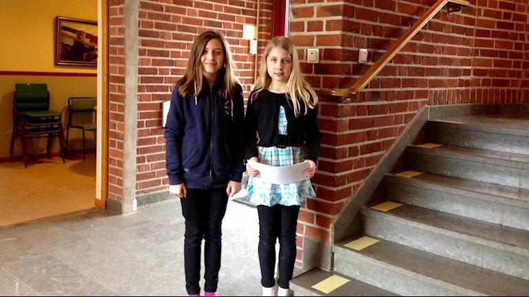Alicia Berrisch och Ida Andersson. Foto: Karin Blomqvist/Sveriges Radio