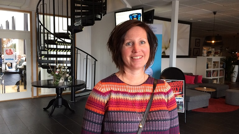 Karin Hallberg, socialchef i Vänersborg. Foto: Cecilia Bergil/Sveriges Radio