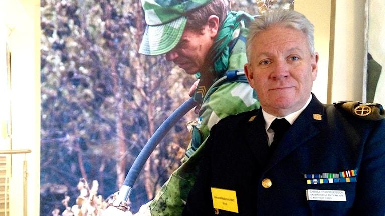 Christer Börjesson hemvärnschef vid Bohus Bataljon