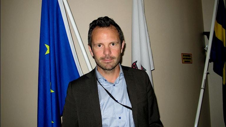 Daniel Norlander är huvudsekreterare för Nationella samordnaren mot våldsbejakande extremism. Foto: Charlotte Andersson/Sveriges Radio