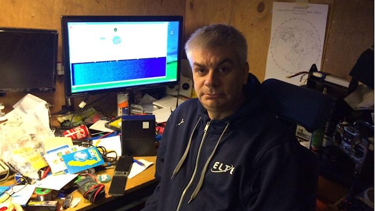 Håkan Johansson, radioamatör i Uddevalla