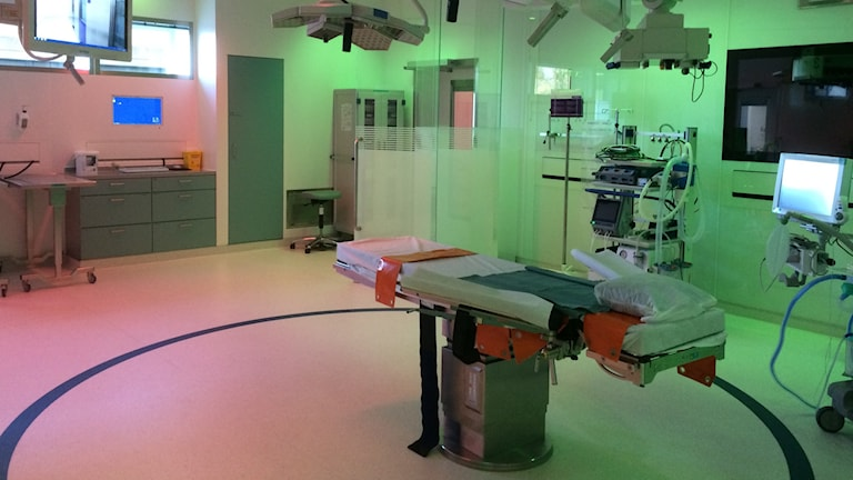 Ny operationssal på Näl. Foto:Cecilia Bergil/Sveriges Radio
