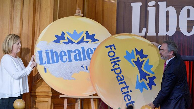 Folkpartiet byter namn till Liberalerna på landsmötet. Foto: JanErik Henriksson/TT