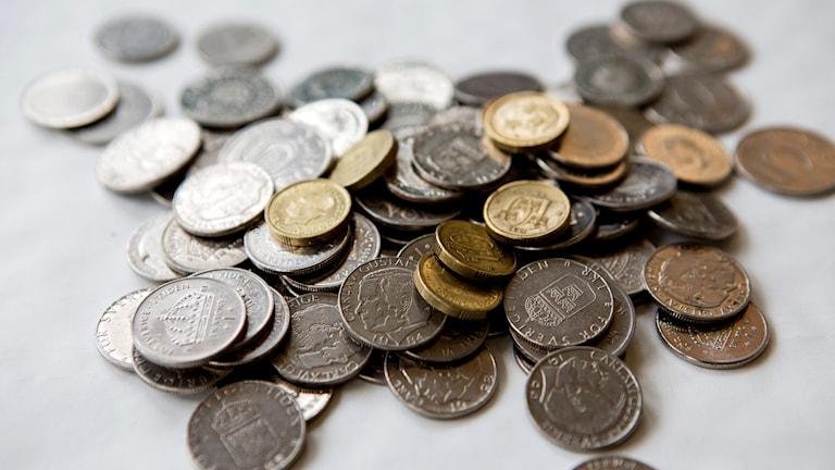 En massa mynt. Foto: Christine Olsson/TT.