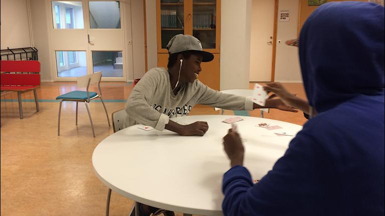 Abdullahi Khalif, elev på Silvertärnan i Vänersborg, tycker att skolan ska vara mångkulturell. Foto: Oskar Lodin / Sveriges Radio