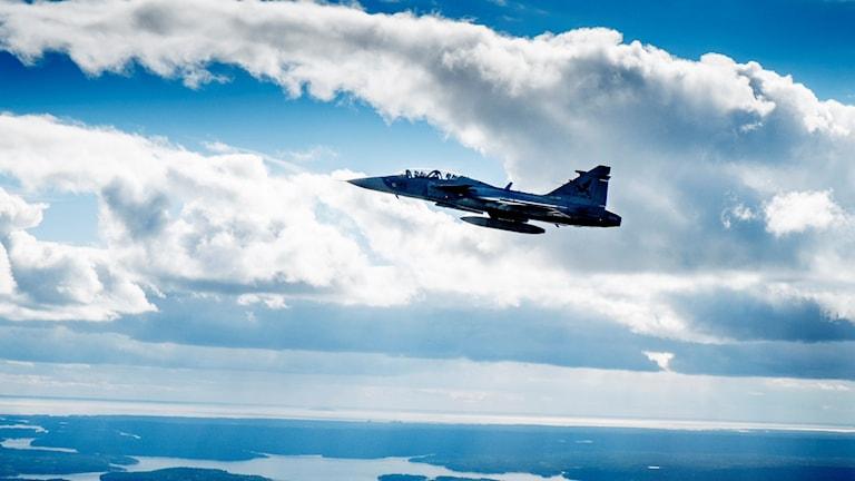 Jas-Gripen Jet Foto: Magnus Hjalmarson/TT.