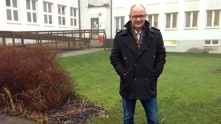 Rektorn vid Dalsands folkhögskoa Tomas Rydsmo. Foto: Lina Alexandersson/Sveriges Radio