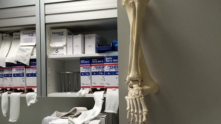 Behandlingsrum på ortopeden på NÄL. Foto:Cecilia Bergil/Sveriges Radio