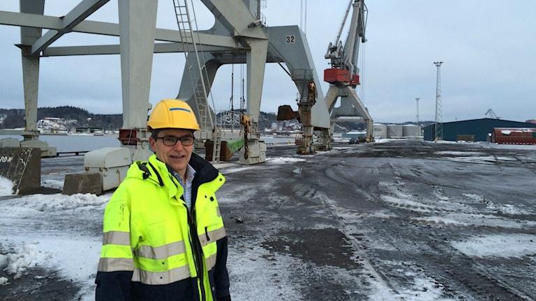Hamnchef Ulf Stenberg ser ljust på framtiden. Foto: Martin Jönsson/Sveriges Radio