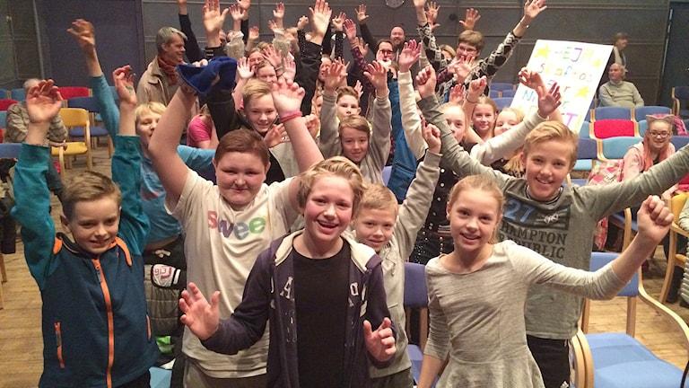 Vi i femman 2016 Kvartsfinal 2 Skaftö skola. Foto: Susanna Wictorzon/Sveriges Radio.