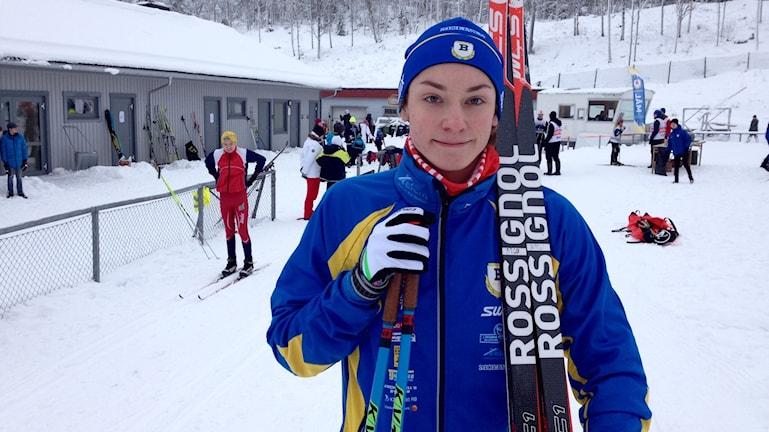 DM-segraren Nico Larsson från Bengtsfors BoIS. Foto: Margaretha Valdemarsdotter/Sveriges Radio