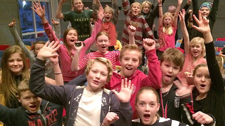 Skaftö skola klass 5 i Vi i femman 2016.