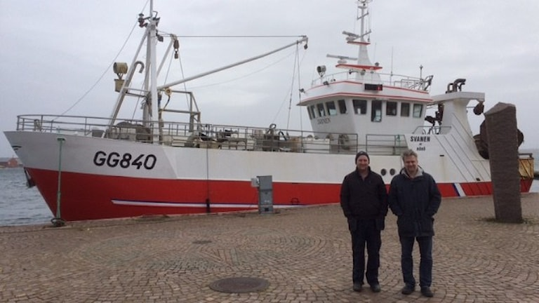 Fiskaren Stefan Larsson och forskaren Johan Lövgren