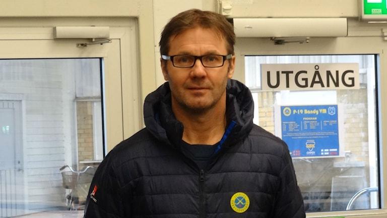 Bandy Håkan Rohlén Förbundskapten P-19  i Slättbergshallen
