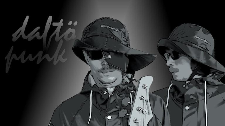 Bild på bandet Daftö Punk. Foto: Sveriges Radio