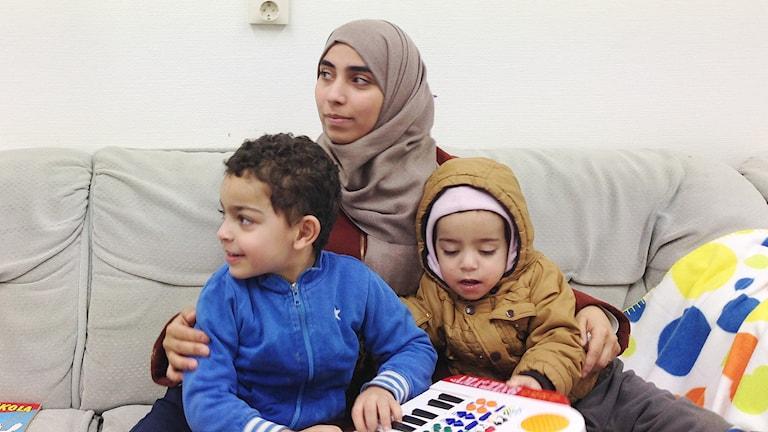 Inam Alghoul och hennes barn