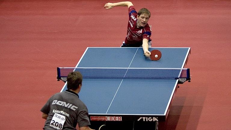 SM i Bordtennis 2006. Robert Svensson besegrades av Jan-Ove Waldner i semifinalen.