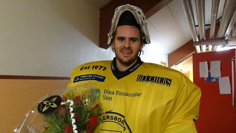Ishockey Vänersborgs HC Emil Lundberg målvakt