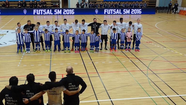 Inför SM-finalen för IFK Uddevalla i futsal på hemmaplan