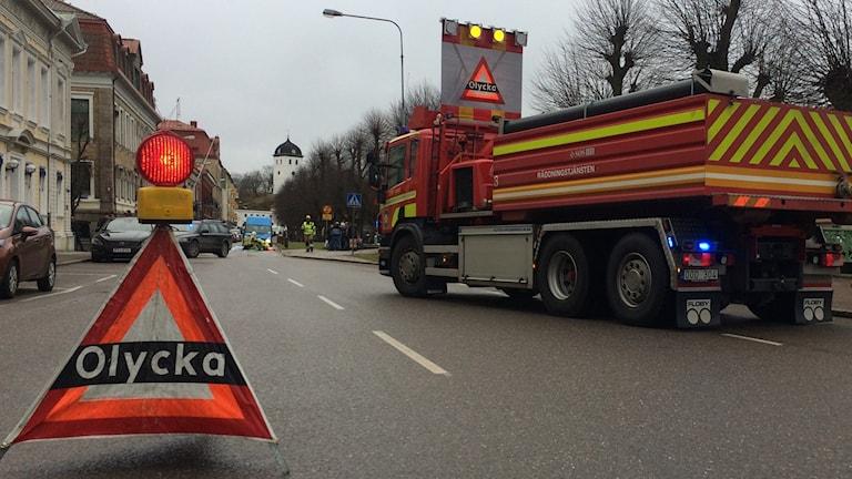 Trafikolycka i Uddevalla. foto: richard veldre/sveriges radio