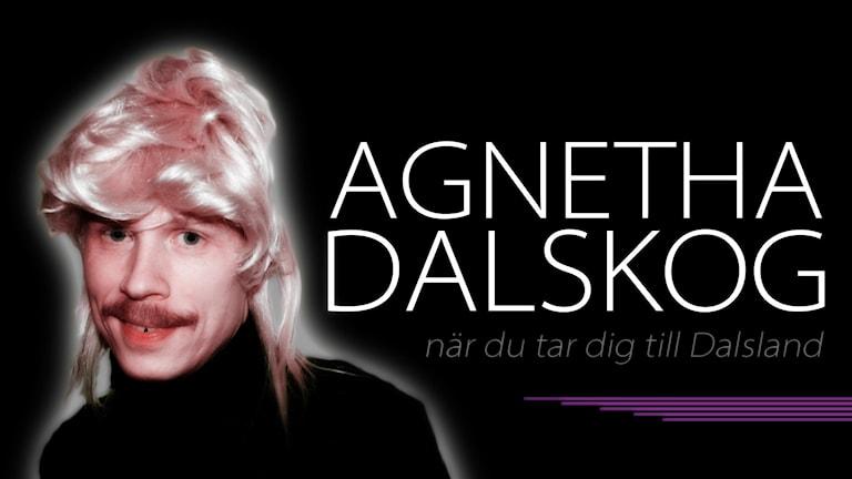 Bild på Agnetha Dalskog som tävlar i Framåt Fredags Ortmelodifestival. Foto: Sveriges Radio