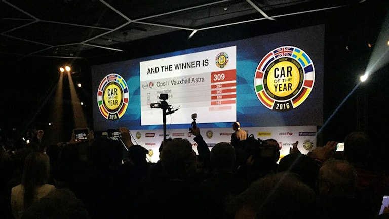 Tävlingen Årets bil på bilsalongen i Genève.