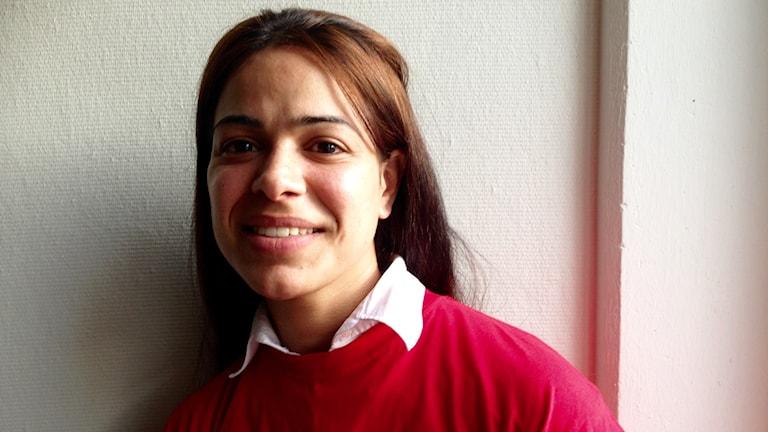 Palestinskan Donia Karaki på Restad Gård.