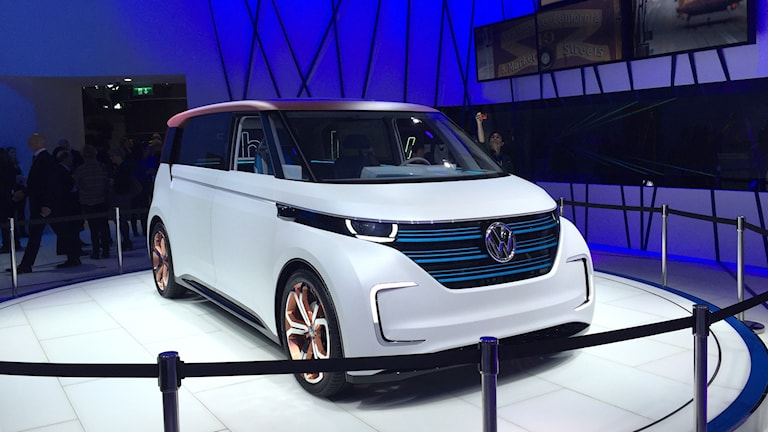 Volkswagens konceptbil Budd-E visas på bilmässan i Genève