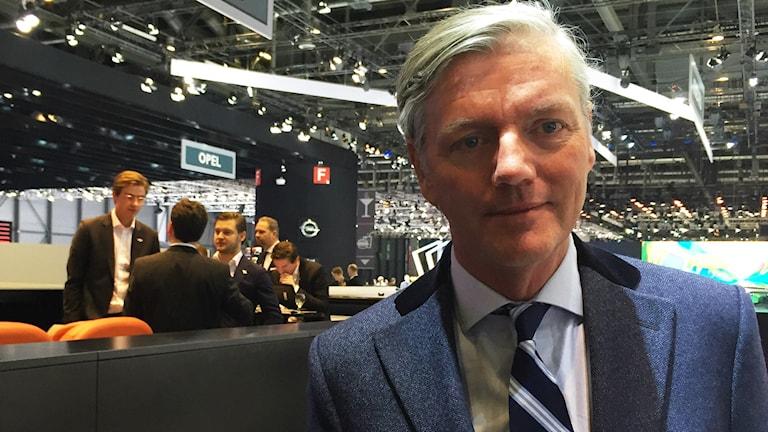 Victor Muller på bilmässan i Geneve