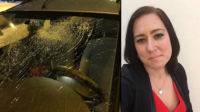 Lisa Ketti bil Uddevallabron isblock