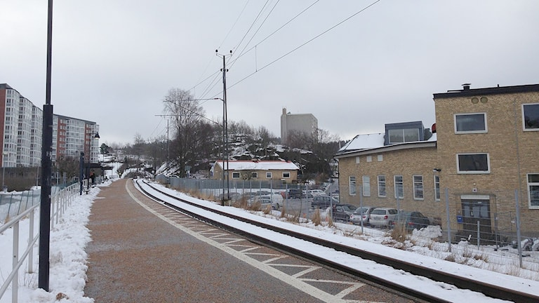 Tågstationen Uddevalla östra.