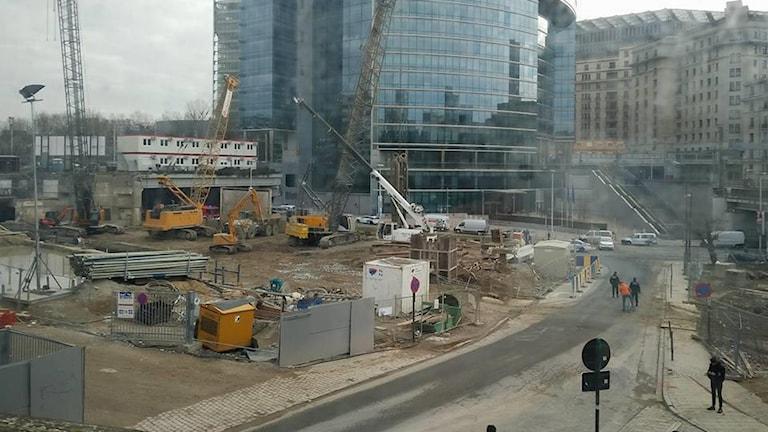 Tunnelbanestationen i Maalbeek i Bryssel, efter explosionen där.