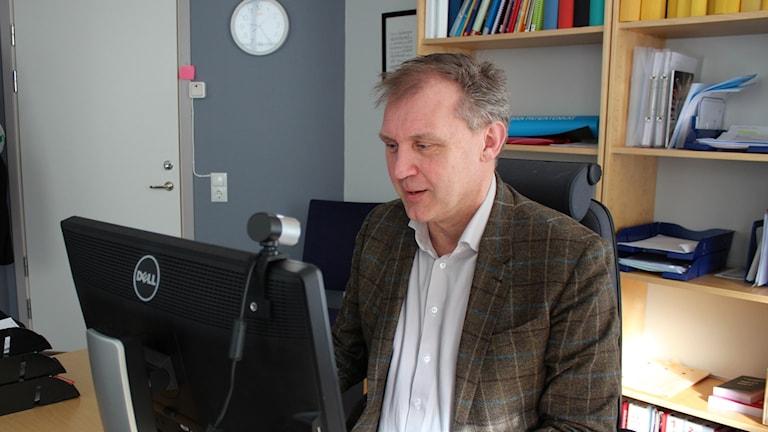Lars Ahngnell, chef för BUP i NU-sjukvården, Foto: Elisabeth Cederblad/P4 Väst
