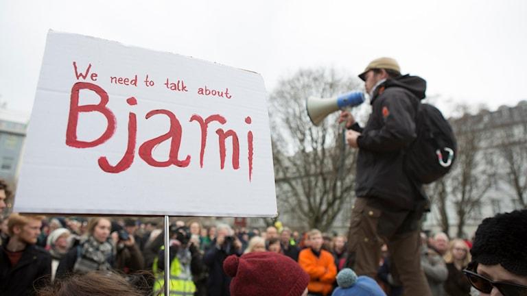 Demonstration i Island.