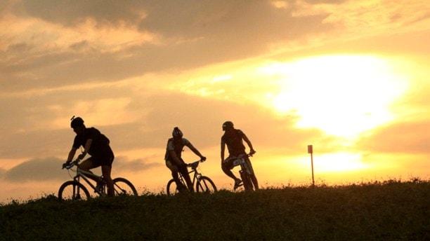 Mountain bike-cyklister.
