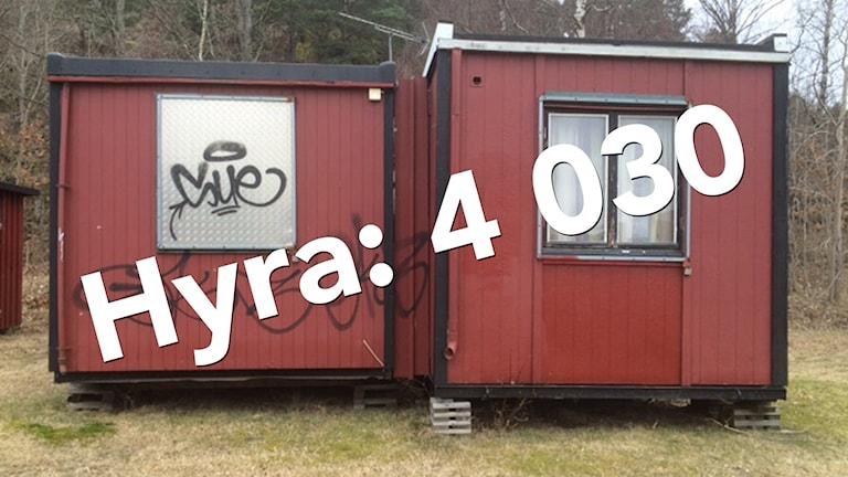 En barack som fungerar som akutboende för hemlösa i Uddevalla.