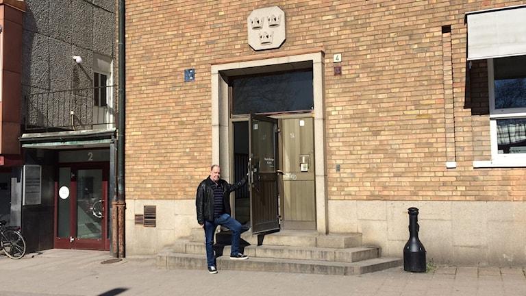 Bengt Carlsson, en av de som driver Kaffestugan i Trollhättan.