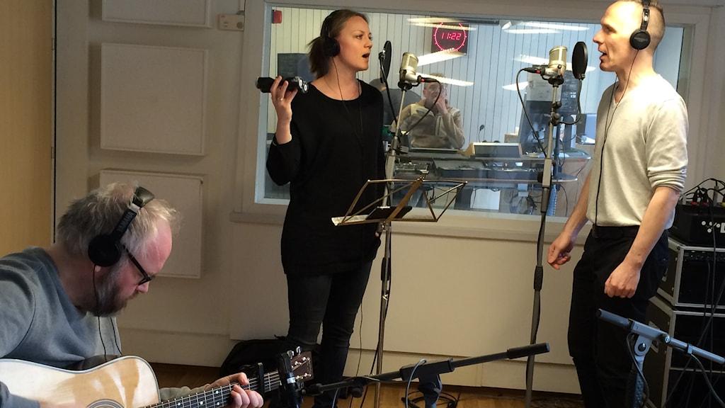 Magnus Sjöqvist, Erica Larsson och Ulf Michal.