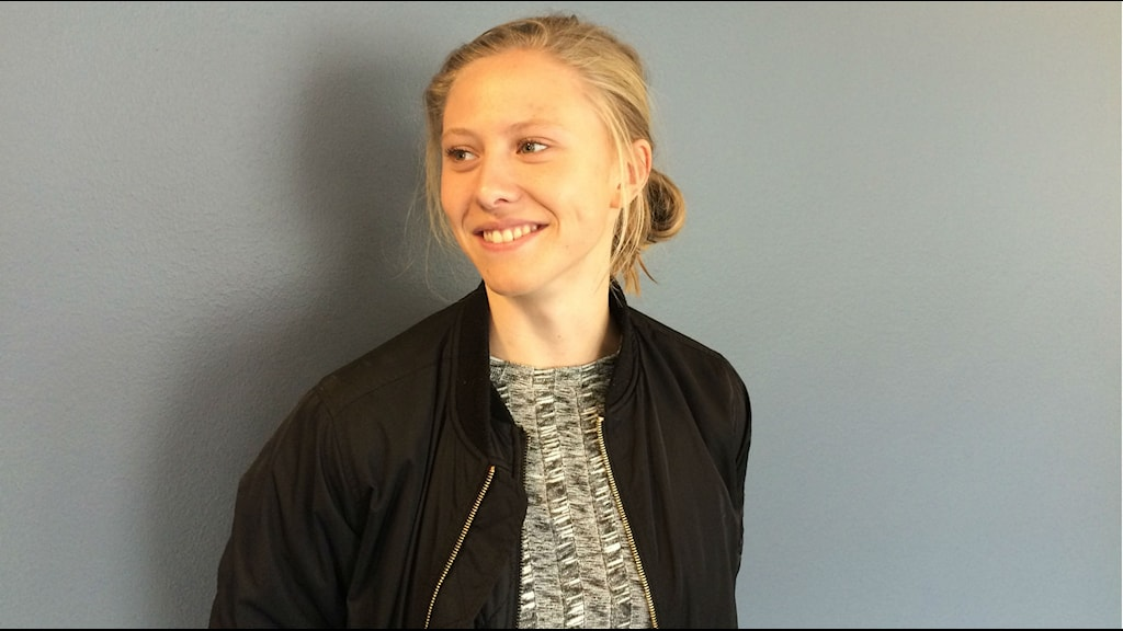 Fotbollspelaren Rebecka Blomqvist. Foto: Tommy Öster/Sveriges Radio
