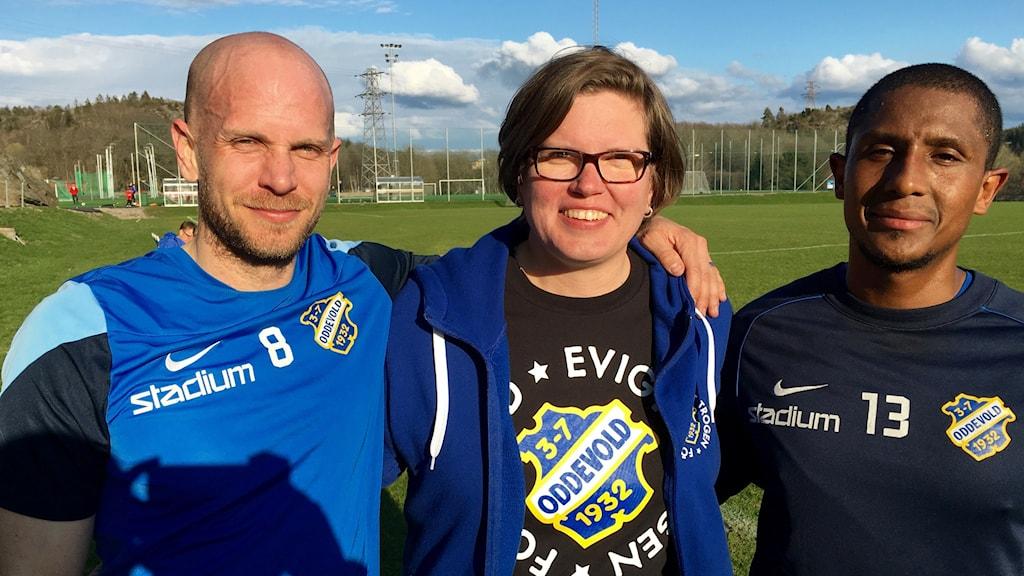 Johan Patriksson, Susann Sannefjäll  och Pablo Andersson.