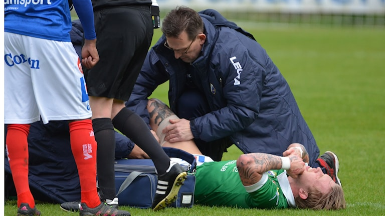 Fotboll Ljungskile Tim Nielsen skadad