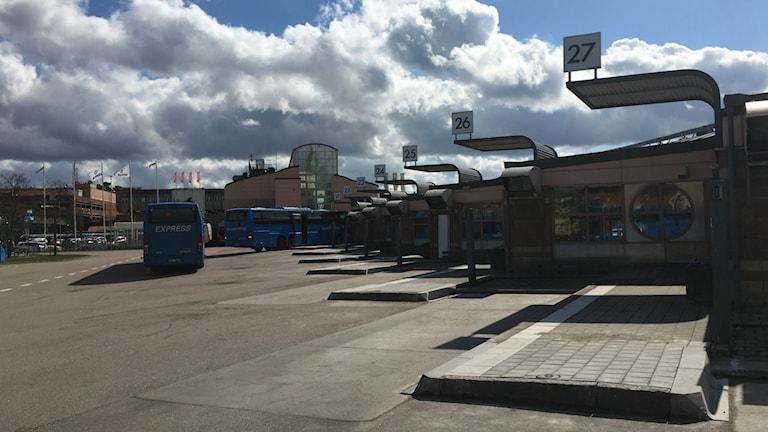 Bussar vid Kampenhof i Uddevalla