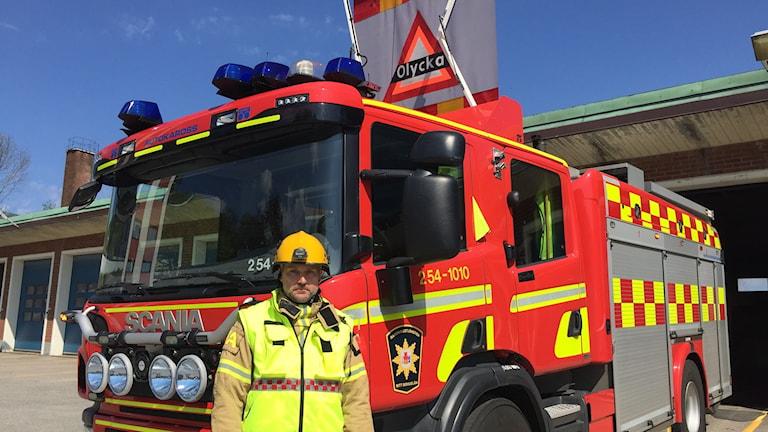 Mikael Bagge på räddningstjänsten