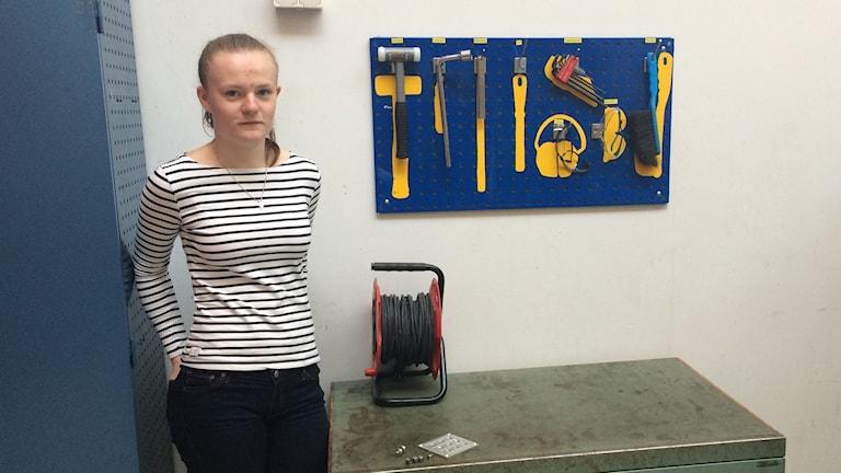 Heidi Ryrlén går första året på industriprogrammet på Lichron i Trollhättan.