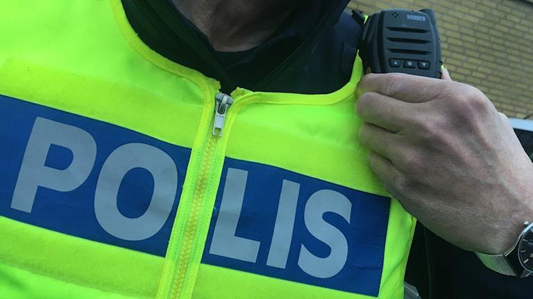 Bild på polisreflexväst