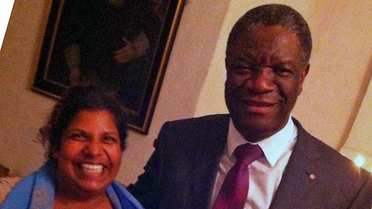 Usha Deminger träffade Denis Mukwege på en fredskonferens i Örebro.
