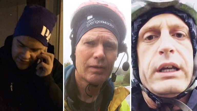 Bilder på Tommy Öster, Peter Olsson och Skoob Salihi.