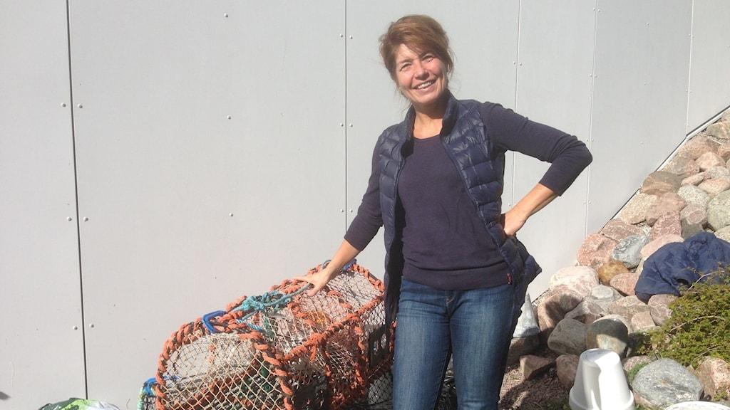 Ing-Marie Lagnéus är hummerfiskare i Fiskebäckskil.